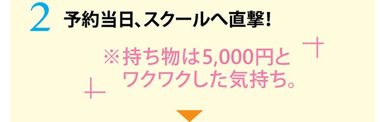 予約当日、スクールへ直撃!持ち物は3,000円とワクワクした気持ち